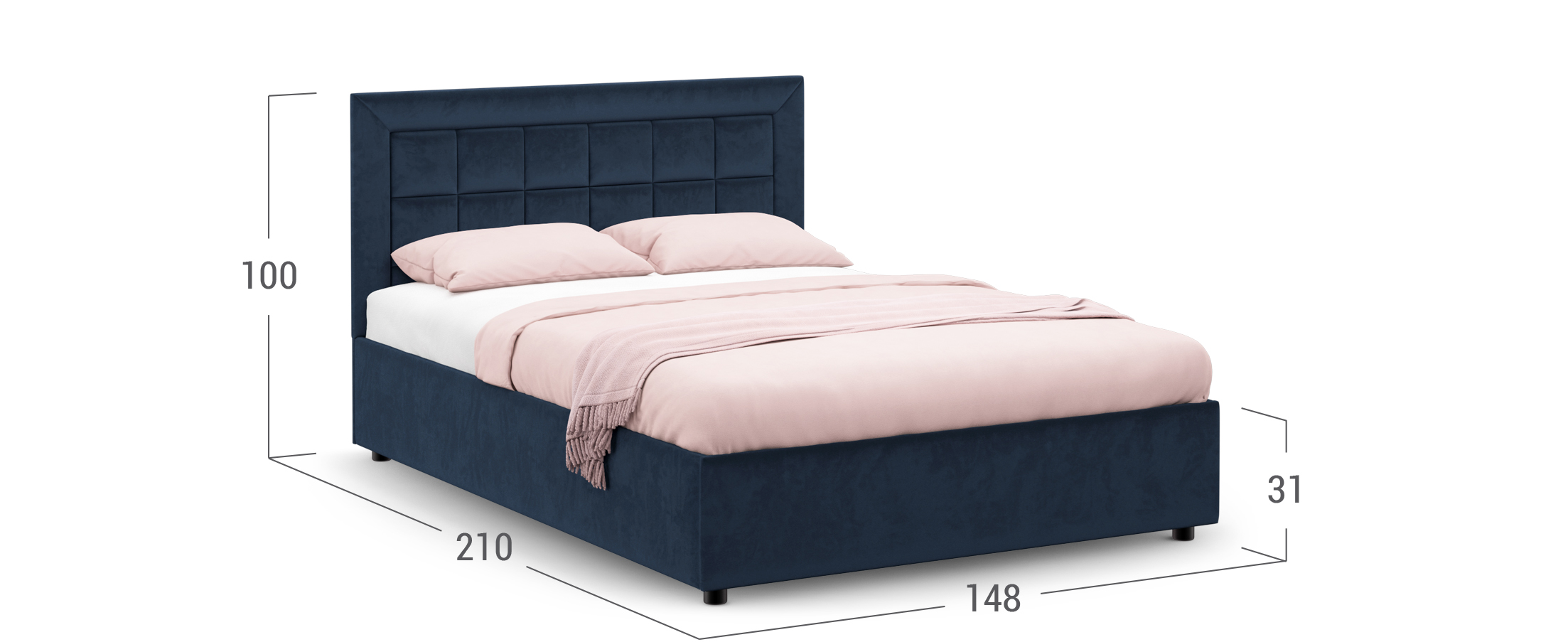 Кровать двуспальная Rion 140х200 Модель 1222
